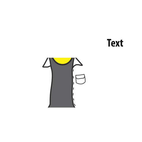 Open Jacket (Various Colours) over T Shirt - Custom Designed LEGO Torso