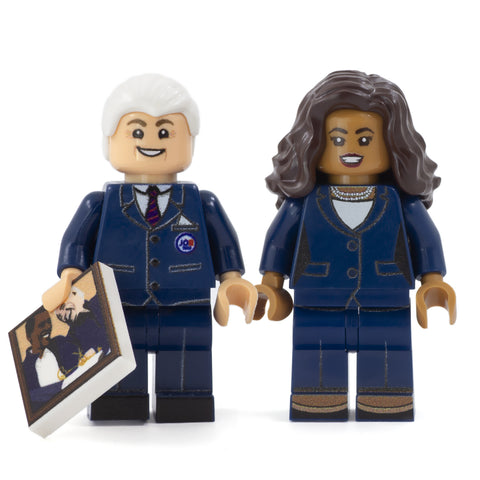 LEGO Joe Biden & Kamala Harris - Custom Design Minifigure Set