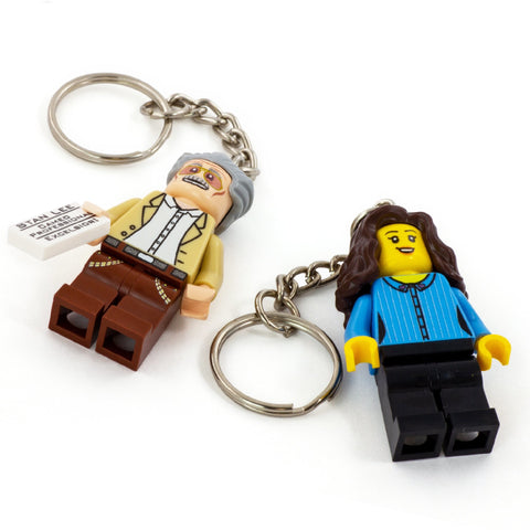 Turn your custom LEGO minifig into a keychain, keyring