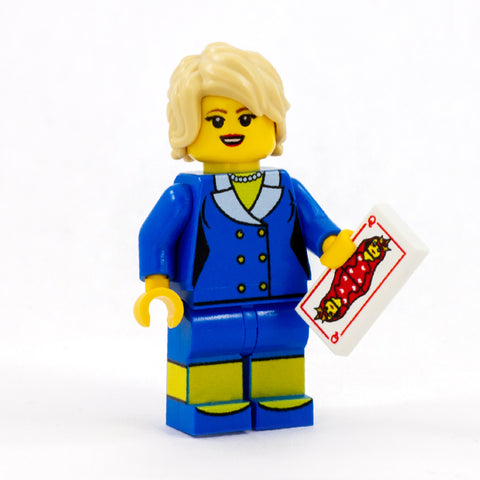 Lady Diana / Princess Diana - Custom Design LEGO Minifigure, the Queen of Hearts