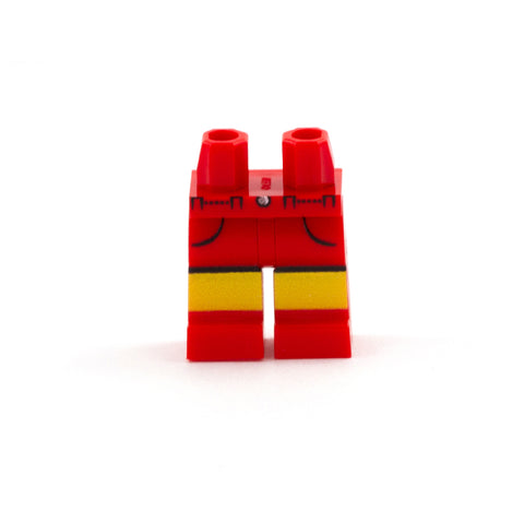 Red Shorts with Pockets - Custom Printed Minifigure Legs