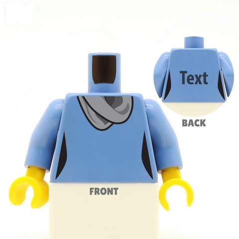 Top with Scarf (Various Colours) - Custom Designed LEGO Torso