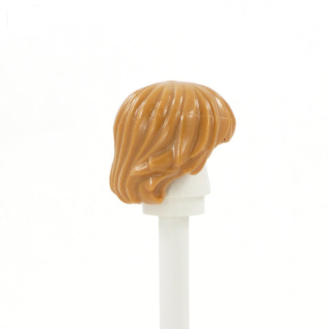Light Ginger Short Shaggy with Parted Fringe - LEGO Minifigure Hair