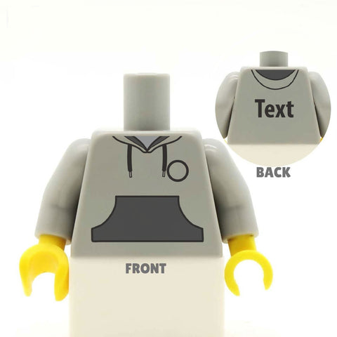 Hoodie with Dark Pocket (Various Colours) - Custom Design Minifigure Torso