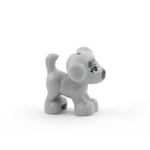 Little LEGO Dog (Light Grey with Darker Patches)