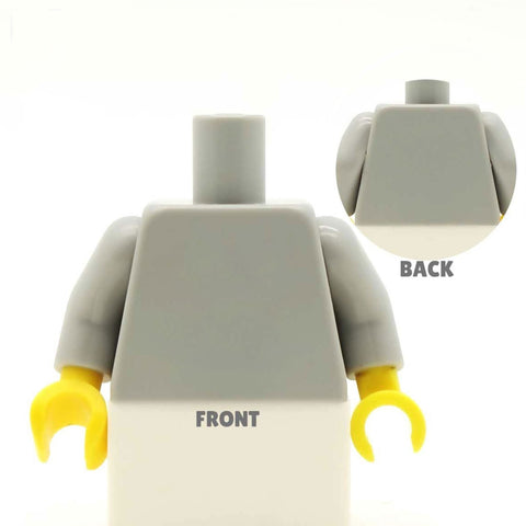 Top with Scarf (Various Colours) - Custom Design Minifigure Torso