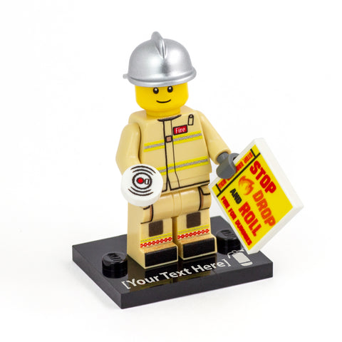 Personalised Firefighter - Custom Design Minifigure