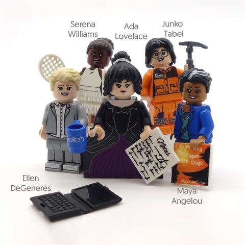 Inspirational Women (IWD 2019) - Custom Design Minifigure Set