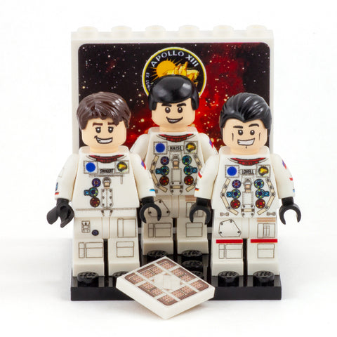 Collector's Edition Apollo 13 Crew - Custom Design Minifigure Set
