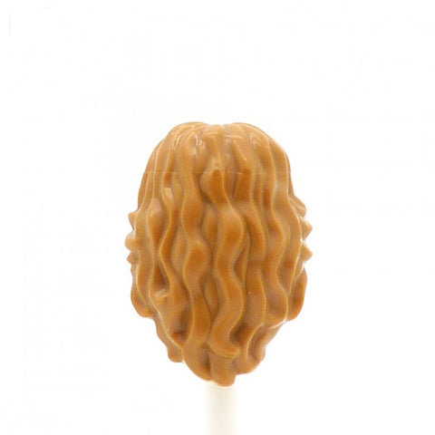 Light Ginger Long Curly Flicked - LEGO Minifigure Hair