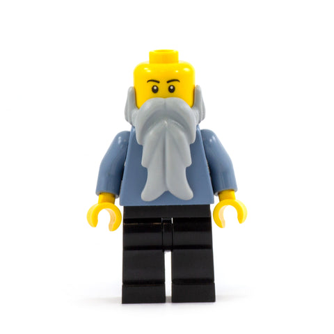 Long Light Grey LEGO Minifigure Beard
