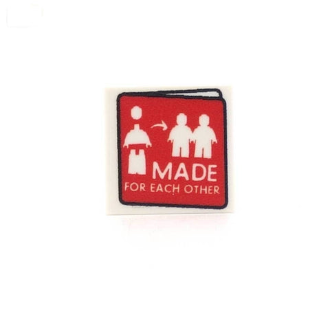 Made for Each Other Greeting Card Custom LEGO Tile