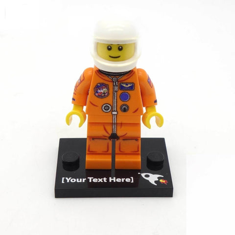 Personalised Orange Shuttle Astronaut - Custom Design Minifigure