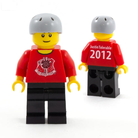 Personalised Roller Derby Player - Custom LEGO Minifigure