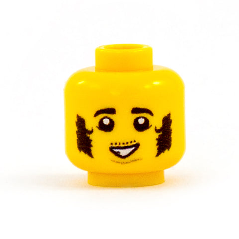 Male Halfling Head (Various Skin Tones) - Custom Design LEGO Minifigure Head