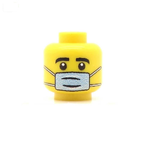 Surgeon with Mask Custom LEGO Minifigure Head