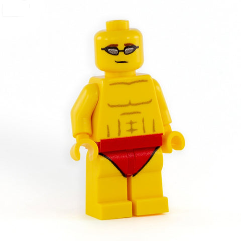 Personalised Swimmer Minifigure (Male) - Custom Printed LEGO Minifigure