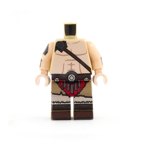Male Barbarian Outfit (Regular Legs, Various Skin Tones Available) - Custom Design LEGO Minifigure Legs and Torso