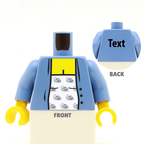 Maternity Top and Cardigan (Various Colours) - Custom Designed LEGO Minifigure Torso