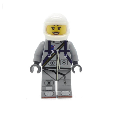 Personalised Light Grey Mercury Astronaut - Custom Design Minifigure