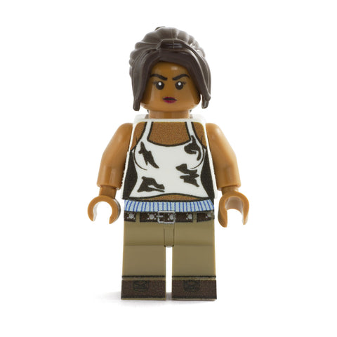 Letty, the Fast and the Furious, Michelle Rodriguez, Street Car Racer - Custom Design LEGO Minifigure