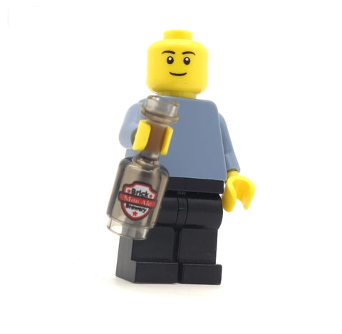Bottle of Ale - Custom Printed LEGO Bottle