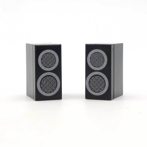 Mini Speakers - Custom Design Tiles on 1 x 2 LEGO bricks
