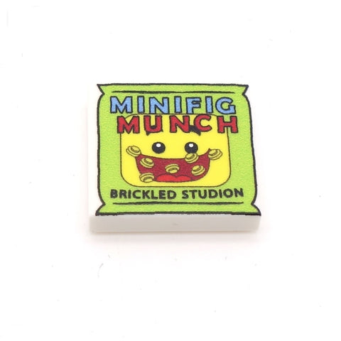 Minifig Munch (crisps / chips) - Custom Printed LEGO Tile