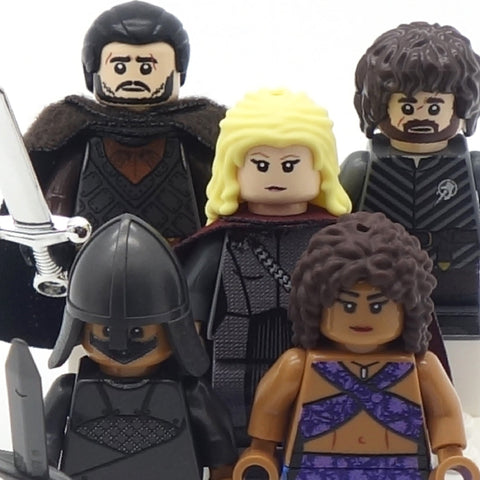 Five Medieval Fantasy Minifigs of Your Choice, Game of Thrones - Custom LEGO Minifigures