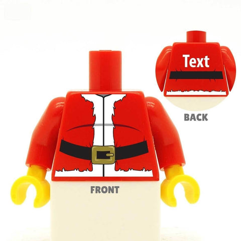 Santa Claus Jacket Custom LEGO Minifig Minifigure Personalised Torso