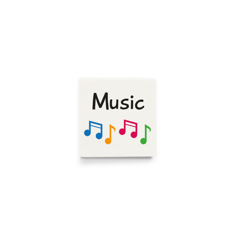 Music (Activity Tile for Visual Timetable) - CUSTOM DESIGN LEGO TILE