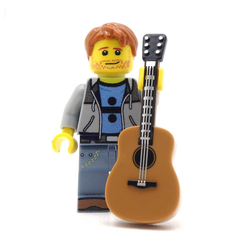 Singing Guitarist and Optional Minibuild - Custom Design Minifigure with Optional Stage