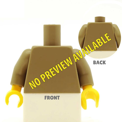 Male Barbarian Outfit (Regular Legs, Various Skin Tones Available) - Custom Design Minifigure Legs and Torso