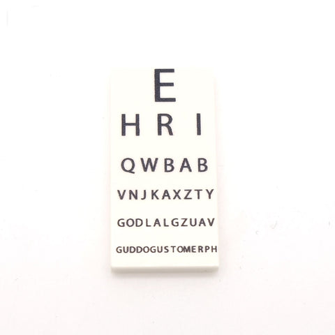 Opticians Eye Chart - Custom Designed tile