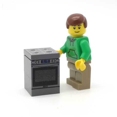 Oven and Hob - Custom Design Tile and Bricks
