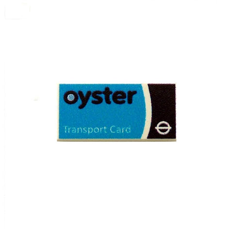 Oyster Card Custom Designed LEGO Tile