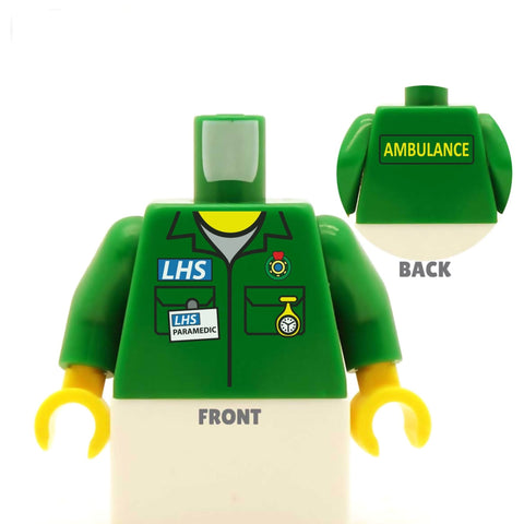 Paramedic Top (Various Colours) - Custom Designed LEGO Minifiugre Torso
