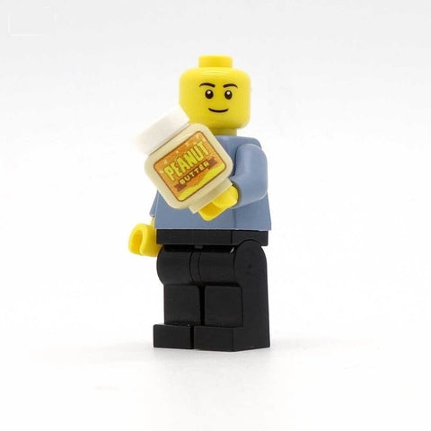 Minifig Holding Jar of Peanut Butter