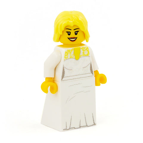 Personalised Bride Minifigure - Custom Design LEGO Minifigure