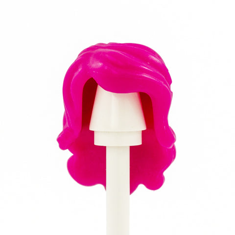 Pink Long Wavy Curls - LEGO Minifigure Hair