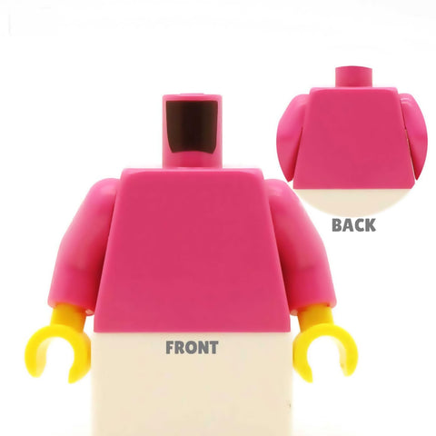 Women's Blazer and Striped Top (Various Colours) - Custom Design Minifigure Torso