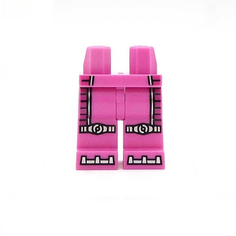 pink silver printed LEGO minifigure legs