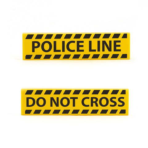 Police Line Do Not Cross Tape - Custom Design LEGO Tiles