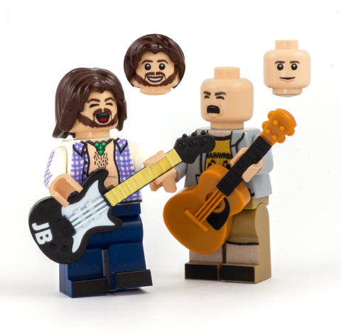 tenacioud D, jack black and kyle gass - custom LEGO minifigure set