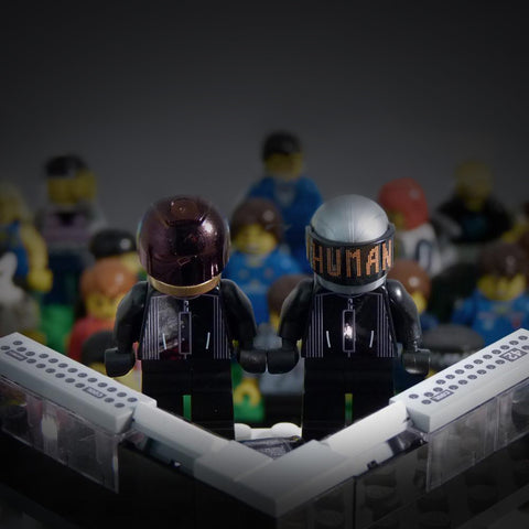 Robot DJs and Optional DJ Booth Custom LEGO Minifigures