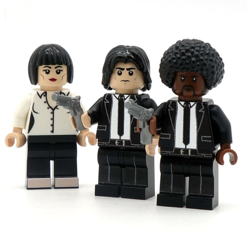 Vince, Jules and Mia - Custom LEGO Minifigures