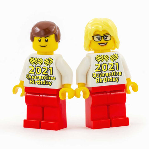2021 Birthday Quarantine Minifigure - Custom Design LEGO Minifigure, cute birthday gift