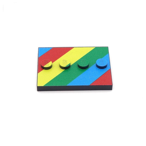 Little Rainbow Baseplate Custom Printed LEGO Baseplate