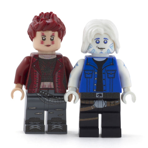 Artemis and Parzival, Easter Egg Hunters - Custom Design Minifigures