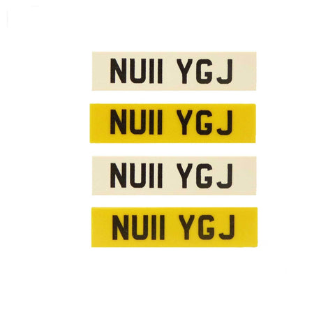 Create Your Own Personalised Registration / Licence Plates! (2 Copies) - Custom Design Tiles